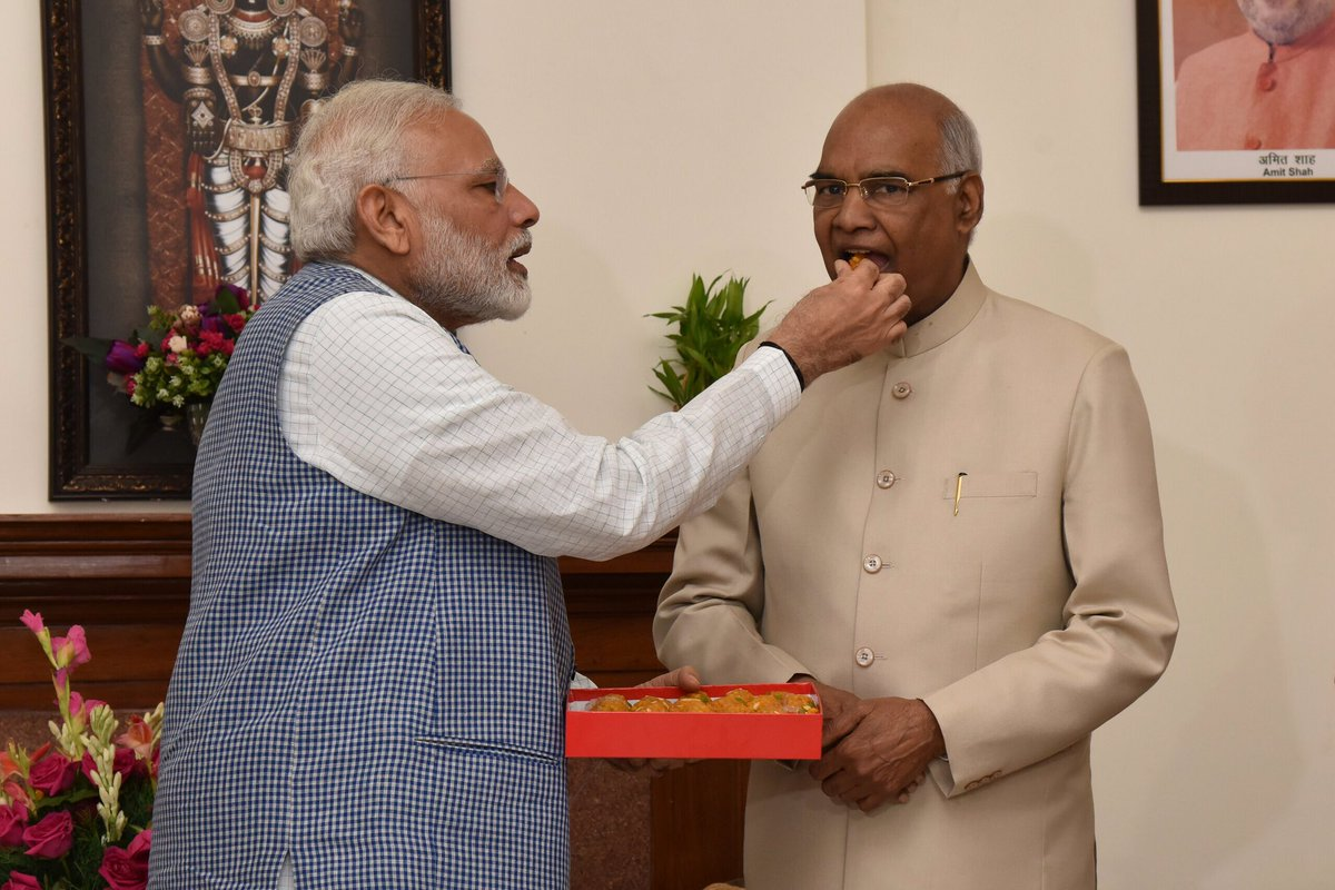 Met President Elect Shri Ram Nath Kovind Ji and congratulated him.