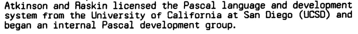 UCSD Pascal (at the time) was a complete OS+programming suite. The programs ran in a p-code VM.  https://t.co/XL3858E6Bj https://t.co/o6SC62804f