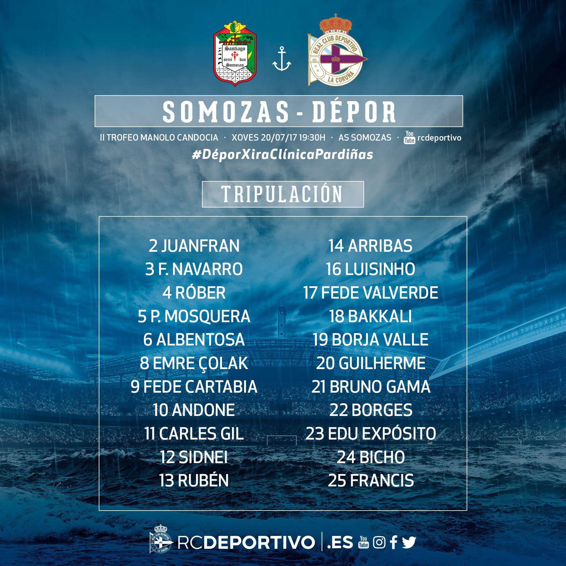 DFLFGDmXYAAWFL1 Lista de convocados del Deportivo para el partido ante el Somozas. - Comunio-Biwenger