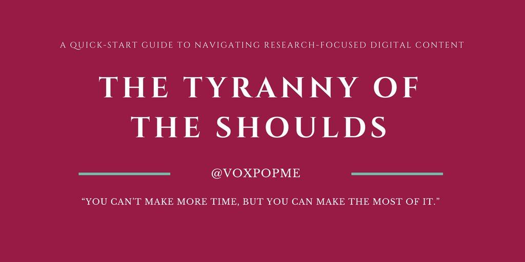 1/ Thread. The Tyranny of the Shoulds in #marketresearch. For the #researchers. Blog link at the bottom of the thread. <br>http://pic.twitter.com/JhyRHM4Ls8