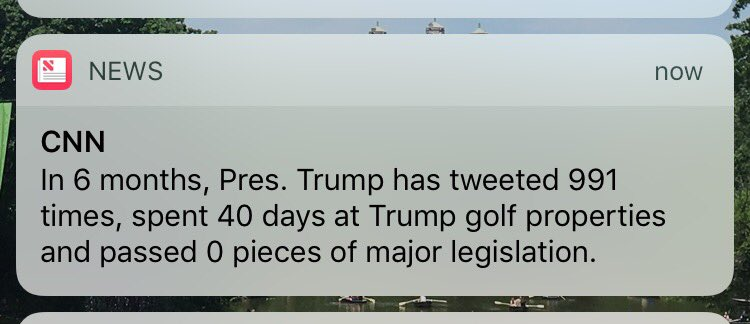 Pretty savage @CNN push alert.
