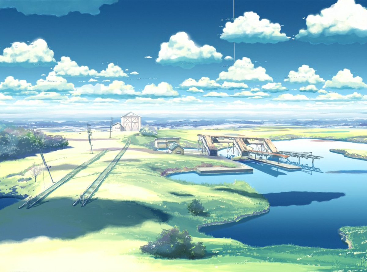 Anime Background Art On Twitter The Place Promised In Our Early Days Makoto Shinkai CoMix Wave Films