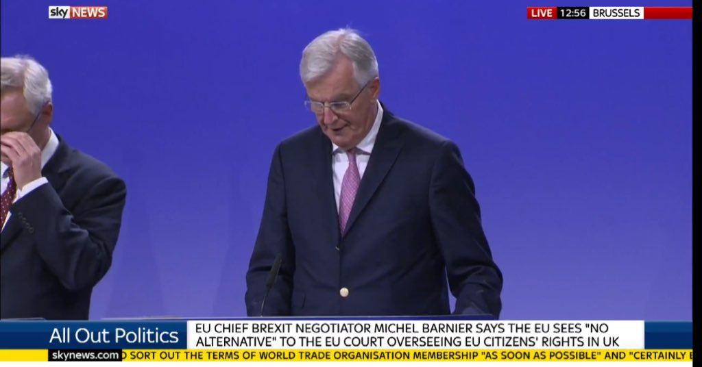 Basic Barnier: we can't negotiate, let alone make deals, if UK does not explain or in some cases have a position