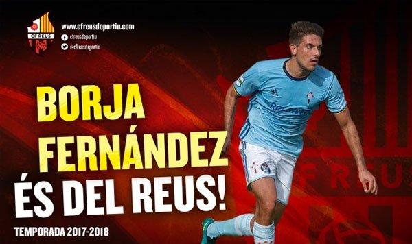 El #RCCelta hace oficial la cesión de Borja Fernández al Reus  http://www. futbolfantasy.com/noticias/43725 -el-celta-hace-oficial-la-cesion-de-borja-fernandez-al-reus  … pic.twitter.com/qOConEwBXC