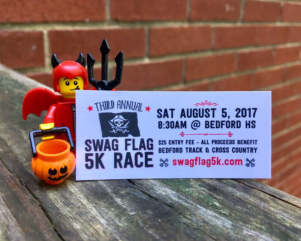 It&#39;s no trick! The #swagflag5k is a treat! Aug 5 at Bedford HS. Register today!  http:// Swagflag5k.com  &nbsp;   @TheRealSwagFlag #5km #5krace<br>http://pic.twitter.com/kKJIloTax2