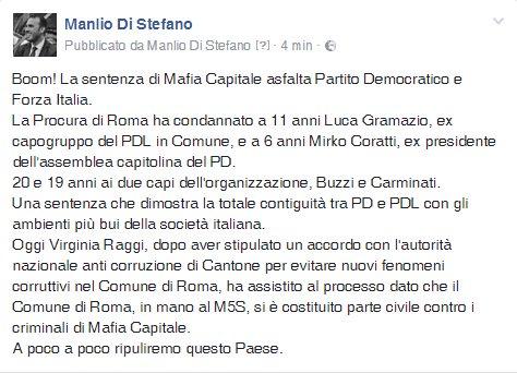 Boom! La sentenza di #mafiacapitale asfalta Partito Democratico e Forz...