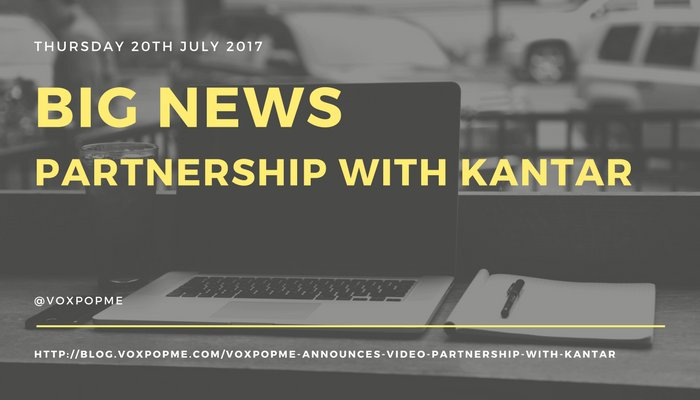 Delighted to announce our partnership @Kantar. Bringing scalable video #insights to clients through tech #newmr #mrx  http:// blog.voxpopme.com/voxpopme-annou nces-video-partnership-with-kantar &nbsp; … <br>http://pic.twitter.com/si97vpASZY