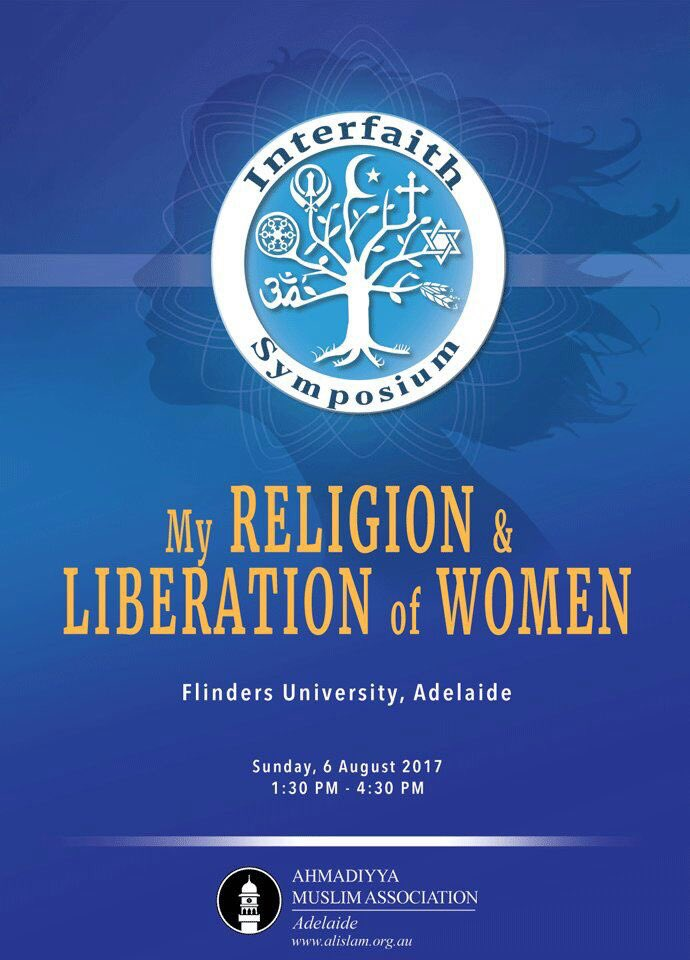 Ahmadiyya Muslim Ladies hold Interfaith Symposium on Sunday 6 August @Flinders Uni. #womenonly #peace #interfaith #understanding <br>http://pic.twitter.com/7owBHv0c2X
