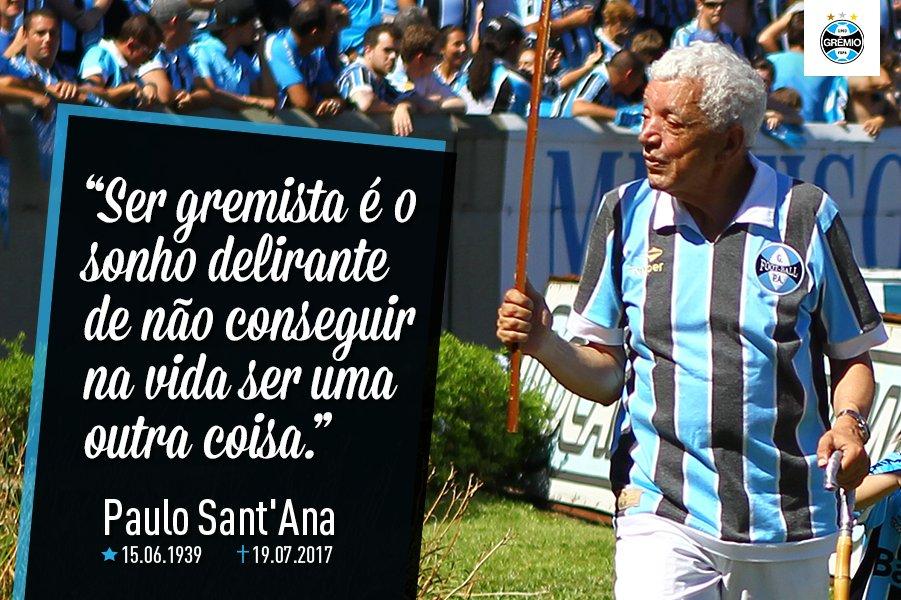 Ele partiu no #DiaDoFutebol e nos despedimos dele no #DiaDoAmigo, logo dele, um dos nossos mais fiéis. Obrigado por tudo, Sant'Ana!