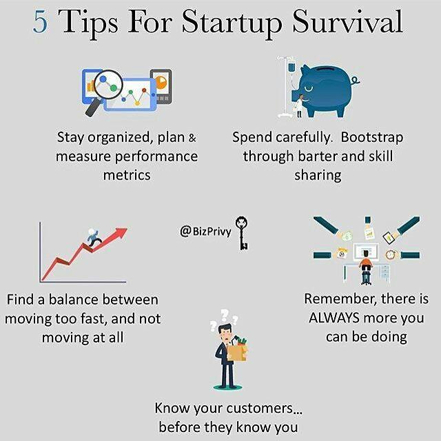 @bossman.com 5 tips for #startup survival / #Orden, #Equilibrio, #Investigación, #Ejecución<br>http://pic.twitter.com/2AD0UNVduP