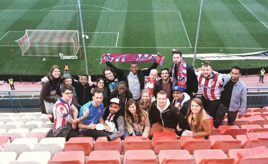 #throwbackthursday to #kickabout on tour in #madrid #2015 including watching a La Liga game at the magnificent #Calderon #atletico<br>http://pic.twitter.com/nrM6iLveFY
