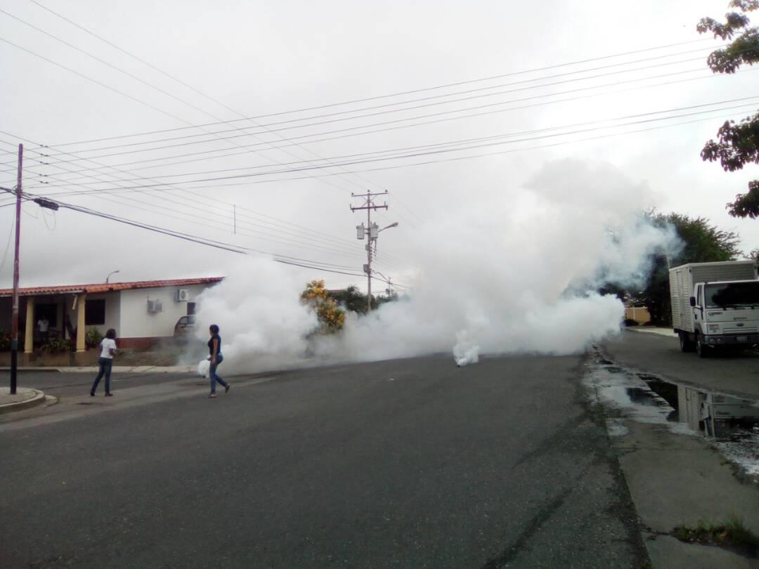 Repression in Los Molinos, Acarigua, Portuguesa state