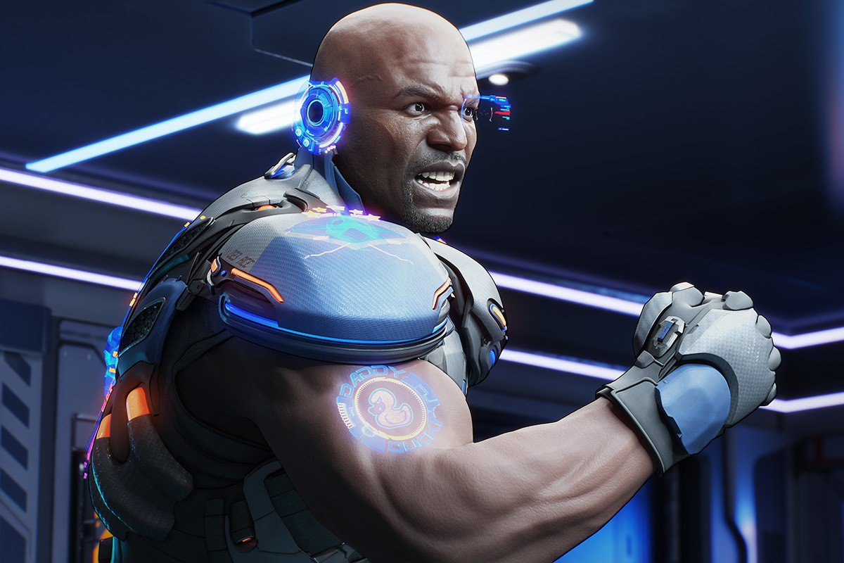 This shot of Terry Crews in 'Crackdown 3' looks amazing