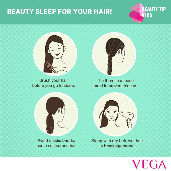 Vega Beauty Care On Twitter Follow These Simple Beauty Tips To Protect Your Hair While You Sleep Stay Tuned For More Such Interesting Beautytips Vega Haircare Https T Co Ibs7yyku3f