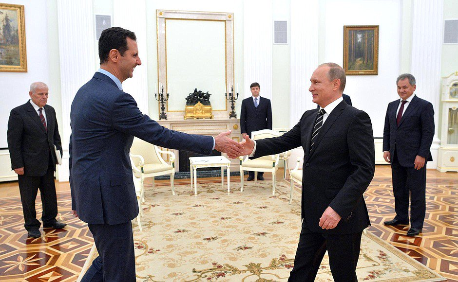 #Putin signs deal with Assad to keep #RussianForces in Syria for next 50 years. @Russia consolidates its presence in #MiddleEast.<br>http://pic.twitter.com/RIwxfW6ntn