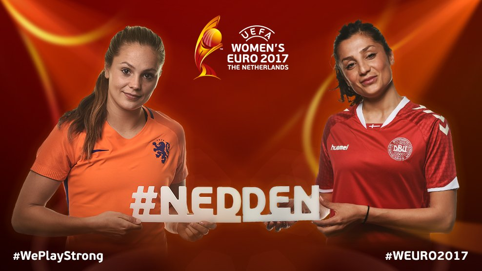 Next up at #WEURO2017: The Netherlands against Denmark in Group A!!  U...