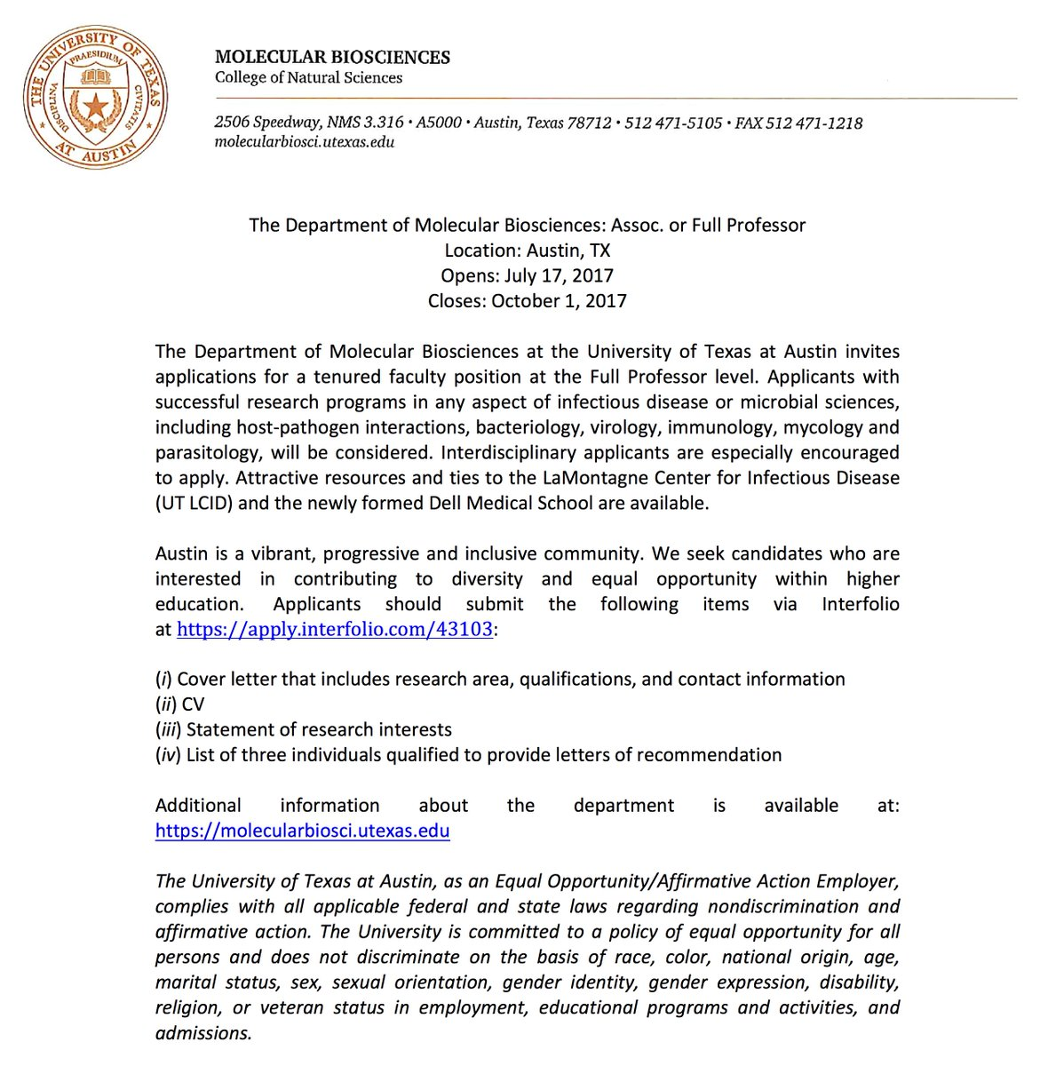 cover letter microbiologist position