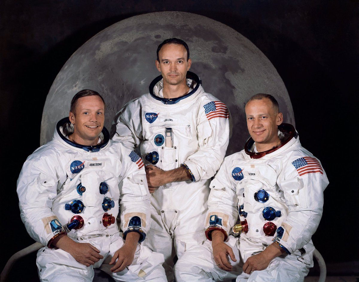 48 years ago today 3 lucky guys were on a journey to be the first humans to land on the moon. #Apollo11