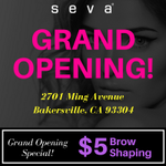 Congratulations to our latest #SevaBeauty studio Grand Opening located at  2701 Ming Avenue Bakersville, CA 93304