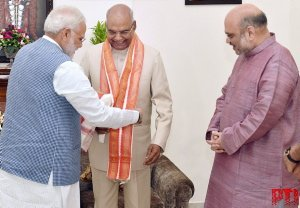 #RamNathKovind will be 1st BJP leader to occupy #RashtrapatiBhawan; only other BJP-led NDA nominee to get elected was A P J #AbdulKalam