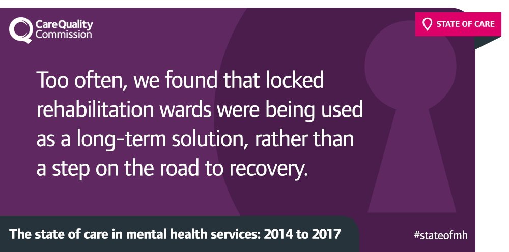 Concerns that some locked rehabilitation hospitals were longstay wards, risking institutionalising people https://t.co/GnfSt31X1f #StateofMH https://t.co/2eMMIxXVEF