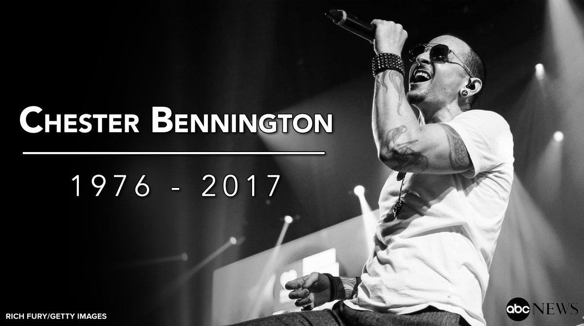 JUST IN Linkin Park Singer Chester Bennington Has Died Of An Apparent Suicide At Age