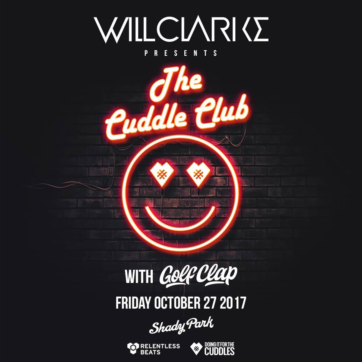 RT @RelentlessBeats #ShowAnnounce - @djwillclarke's Cuddle Club comes thru #Tempe w/ @golfclapdet on 10/27! Tix: https://t.co/8lawm2aB7x