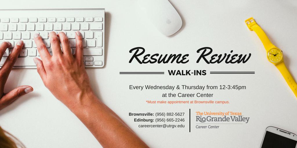 utrgv career center on twitter needing your resume reviewed