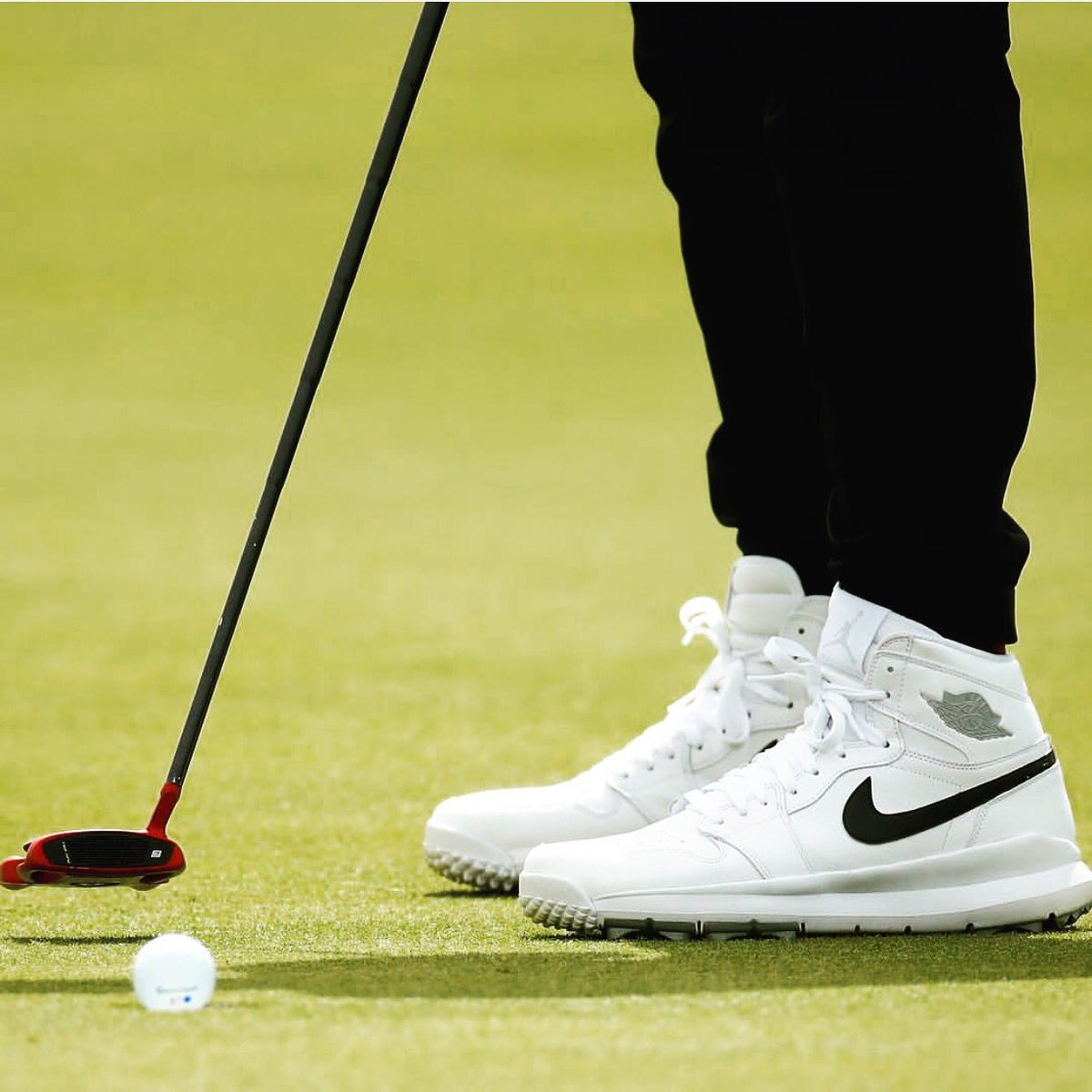 😮 Hey Jason Day, nice kicks!  — Air Jordan 1 Golf cleat during @TheOpe...