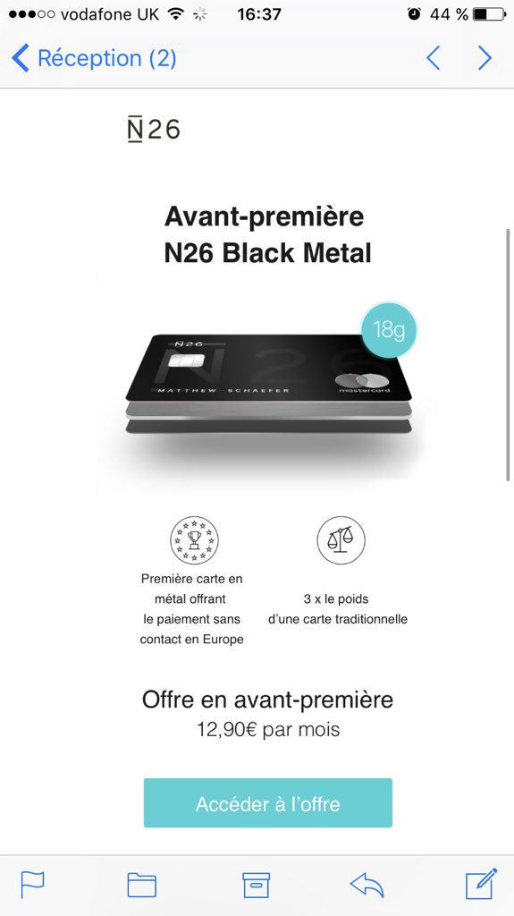 Carte N26 Metal.Marie Loubiere On Twitter Omg N26 Is Launching A Black