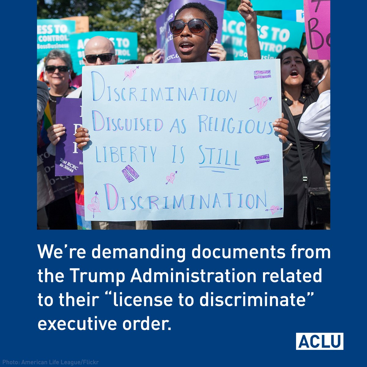 BREAKING: We just filed a lawsuit demanding documents related to the Trump admin's plans to sanction discrimination in the name of religion.