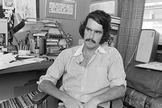 Happy Birthday!!! Garry Trudeau in 1972, two years into his comic strip s syndication run.