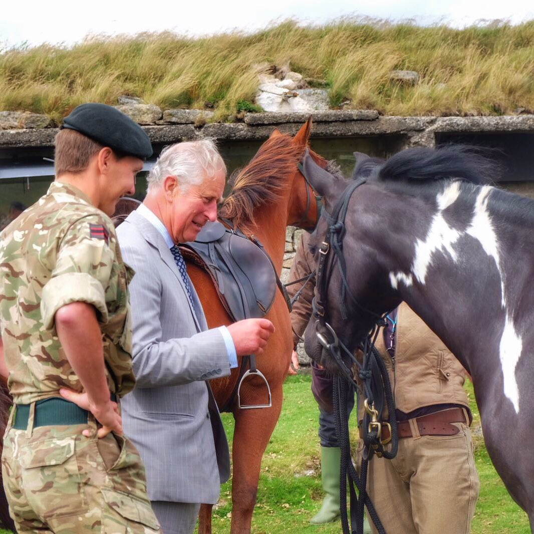 The Prince visits Okehampton Camp, to see how The Duchy of Cornwall is working with the MOD to protect the landscape. #TRHinDevon