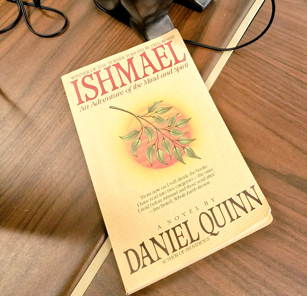 Figured this summer would be a good time to revist 1 of my favorite books #ishmael @_Daniel_Quinn #livelikealeaver #adventureofmindandspirit<br>http://pic.twitter.com/gDFHF79wwt