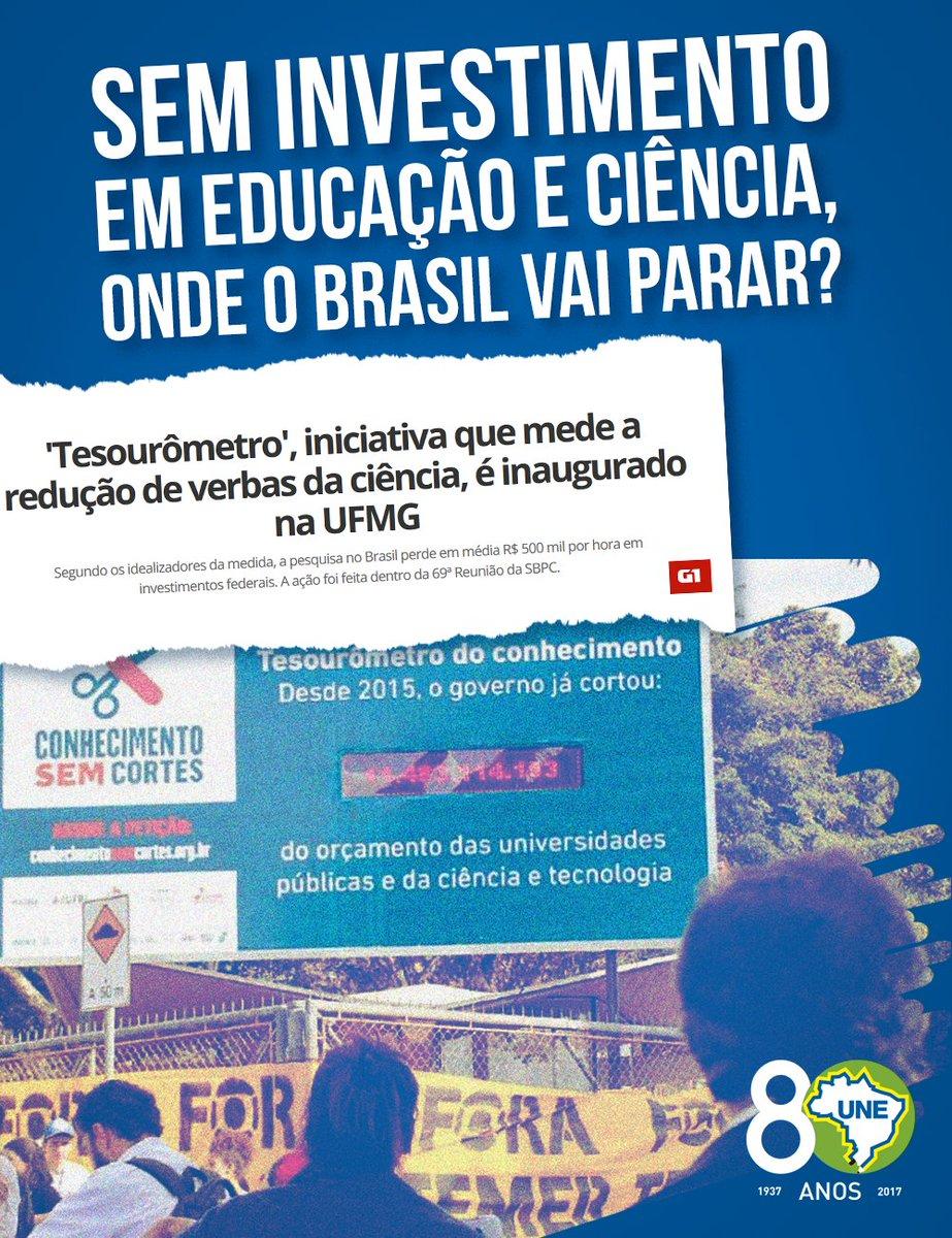 O Brasil está perdendo, em média por hora, R$ 500 mil em investimentos federais. Até quando? https://t.co/Z7pDE8NQHA