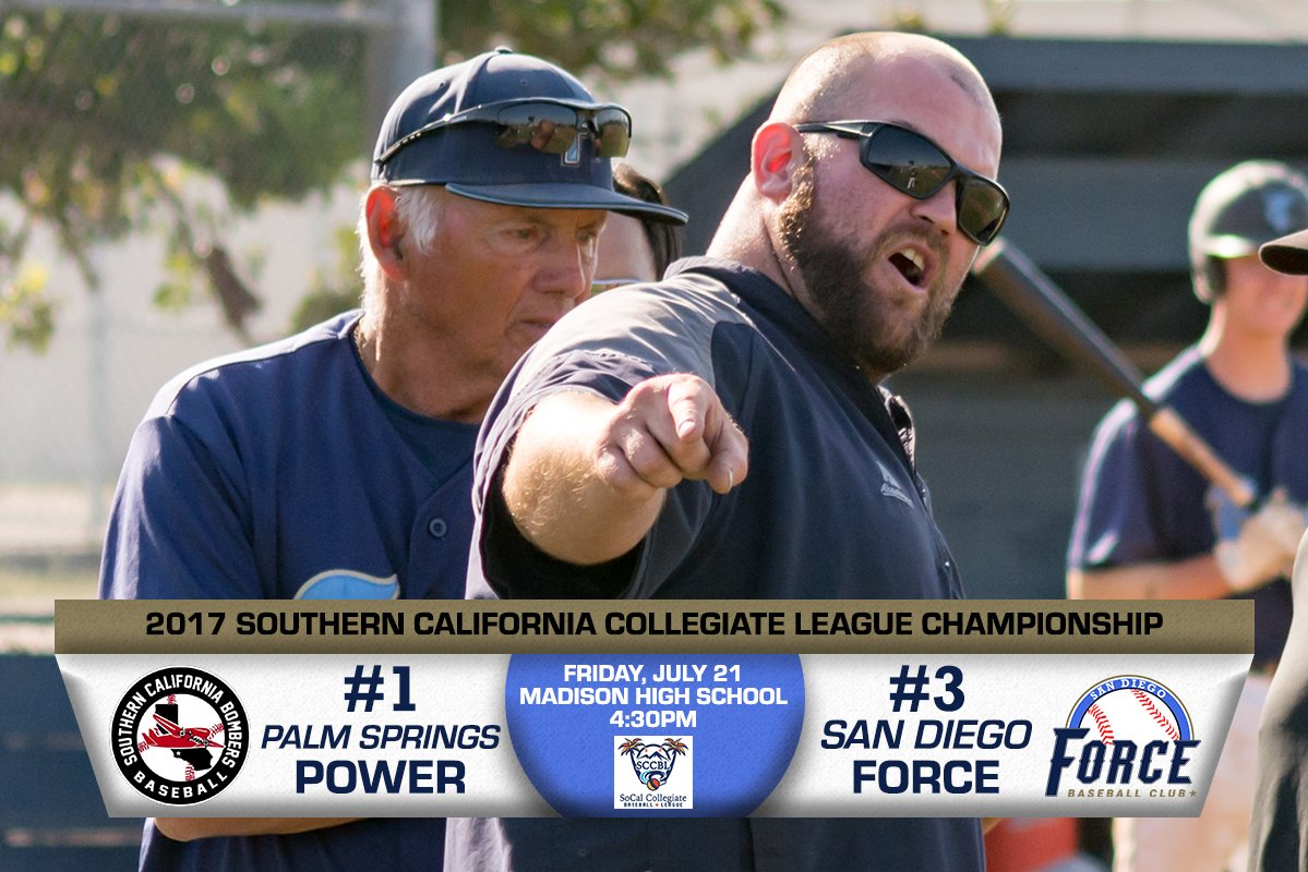 #Force will face @PSPowerBaseball in the 2017 @SCCBL Championship series. Game 1 will be Friday 7/21 at 4:30pm at Madison HS. #UsetheForce<br>http://pic.twitter.com/Ut3y4F8XrP