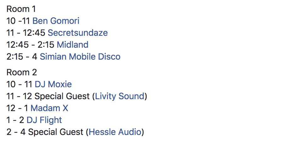 Set times for our #ChooseLove party at @Corsica_Studios