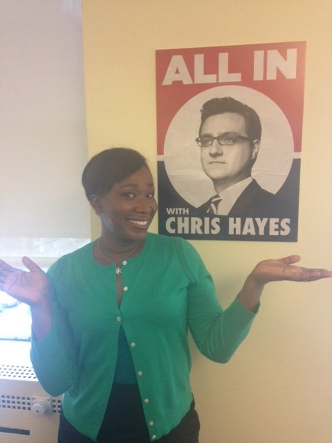 .@JoyAnnReid guest hosting @allinwithchris starts in one hour! See you...