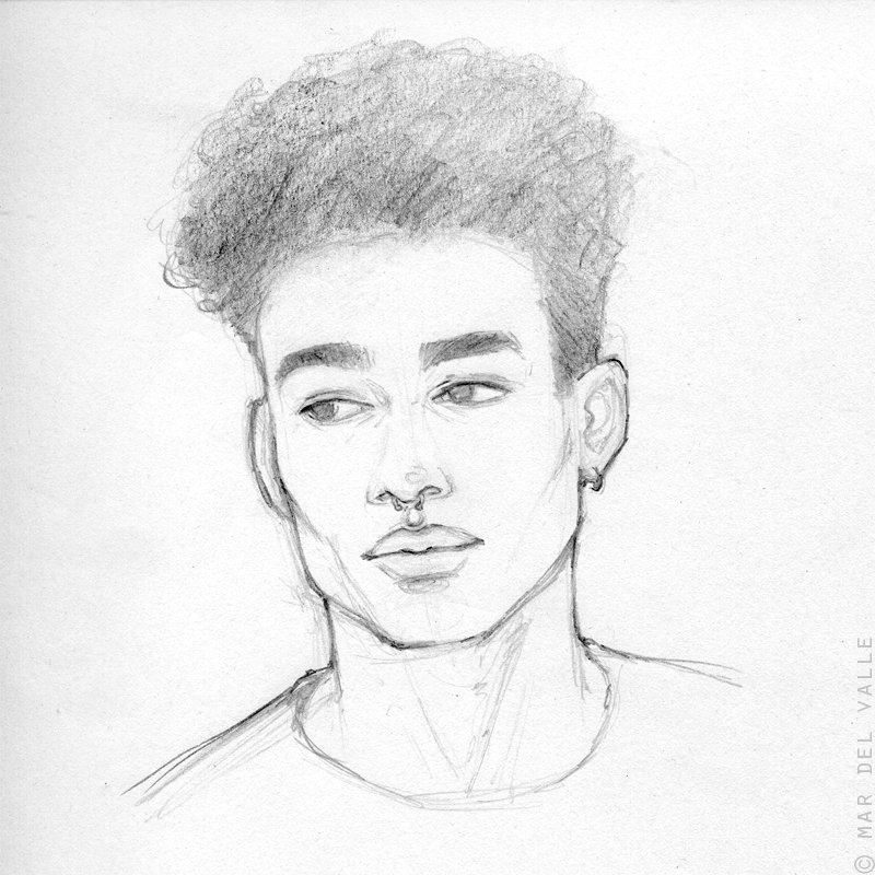 Reece King is so beautiful that it HURTS. So I needed to sketch him a bit  #pencil #sketch #warmup<br>http://pic.twitter.com/0jsjdrcI0c