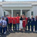 Great to welcome FIRST Robotics Competition Teams USA, Afghanistan & this year's winner, Team Hungary, to the White House today! #STEM