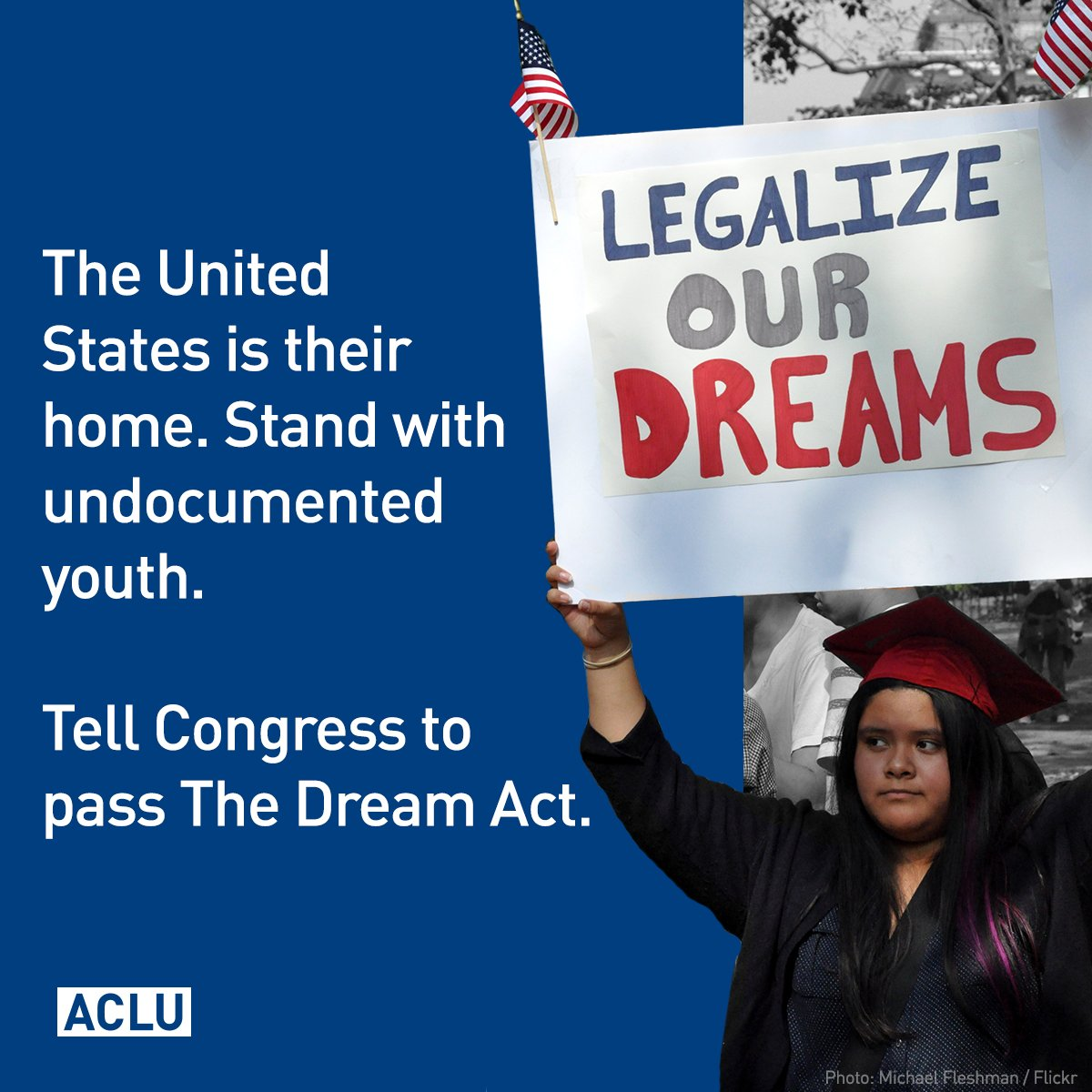 Passing the DREAM Act to achieve permanent security for young immigrants is long overdue. Congress should act. #HereToStay #DefendDACA