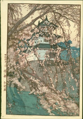 #Hirosaki Castle, built in 1611, is depicted here in this 1935 #woodblock print by Hiroshi #Yoshida.  Our gallery:  http://www. erawoodblockprints.com / &nbsp;  <br>http://pic.twitter.com/WxtgL8itdx