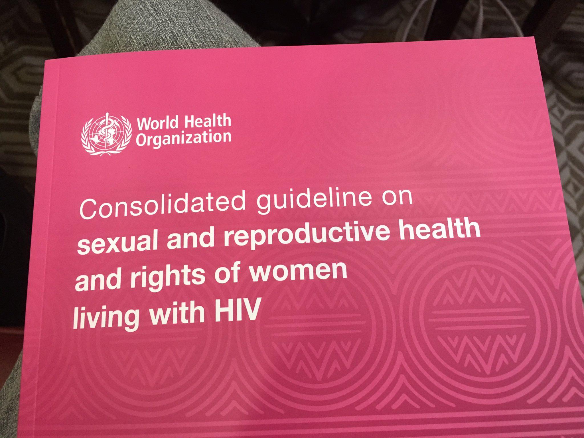 New #womenHIVSRHR @WHO guideline takes a women-centred approach https://t.co/EPHQwwajBa