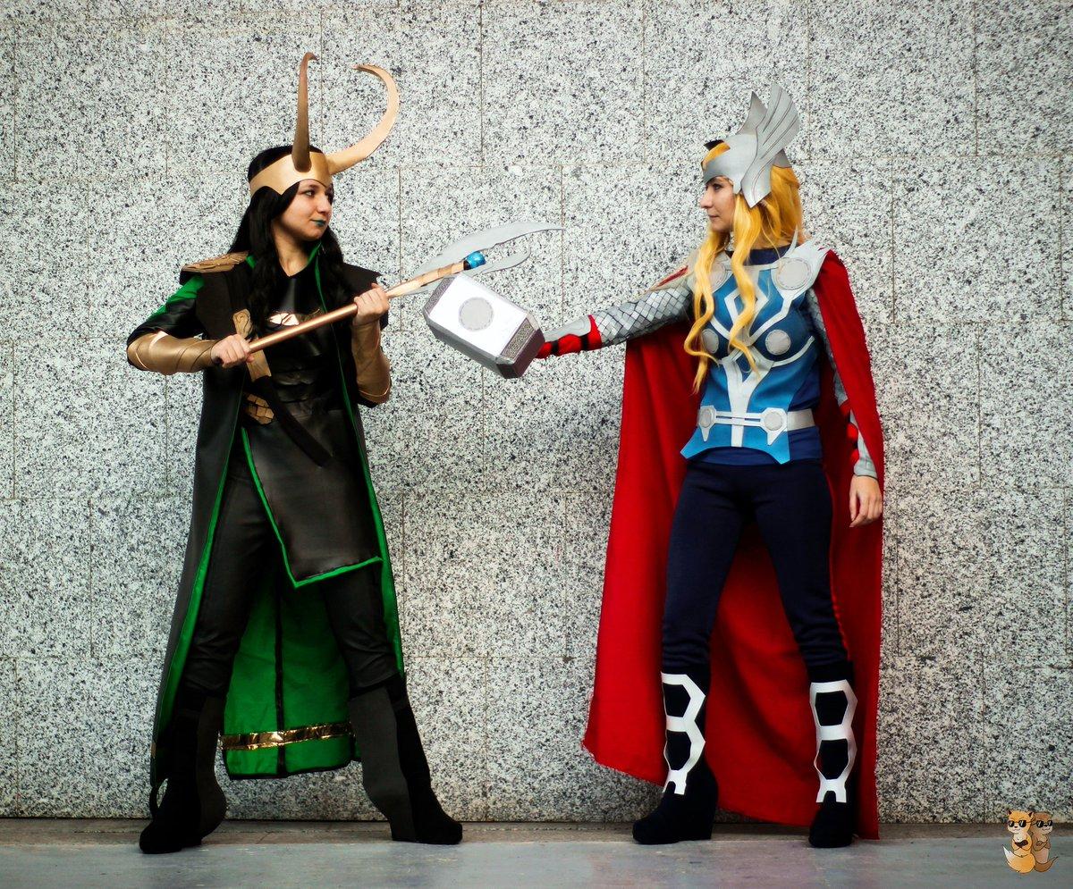 Thor Vs Loki   Loki  Kyari  Thor  Tryska  Photo by @Mirisaur  #cosplay #marvel #thor #loki #avengers #comic #war #versus #fight<br>http://pic.twitter.com/mGzanJ1Jla