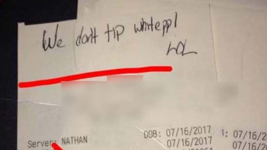 $5K raised for waiter given racist note instead of tip >>https://t.co/zZWYkzuOZD #wmc5