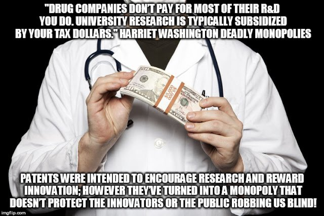 #BigPharma #Monsanto use public #VirtualSlaves according to professor demand #SinglePayer #Disclosure end #Patents  http:// zacherydtaylor.blogspot.com/2017/06/deadly -monopolies-and-medical-slavery.html &nbsp; … <br>http://pic.twitter.com/4x7M7M5v4b