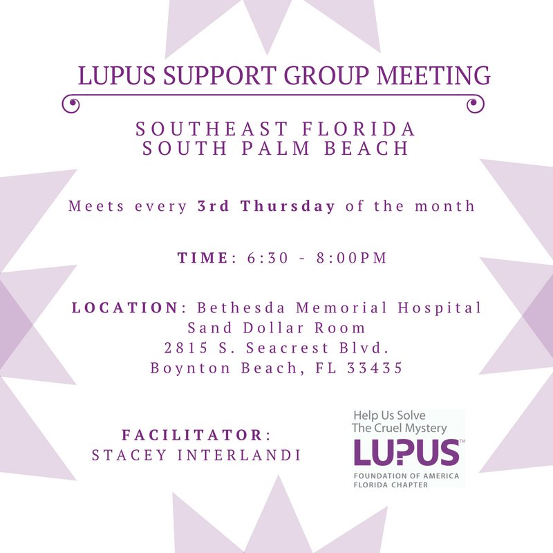 Please join us tonight for our Boynton Beach #Lupus Support group meeting! <br>http://pic.twitter.com/qR8pydyne1