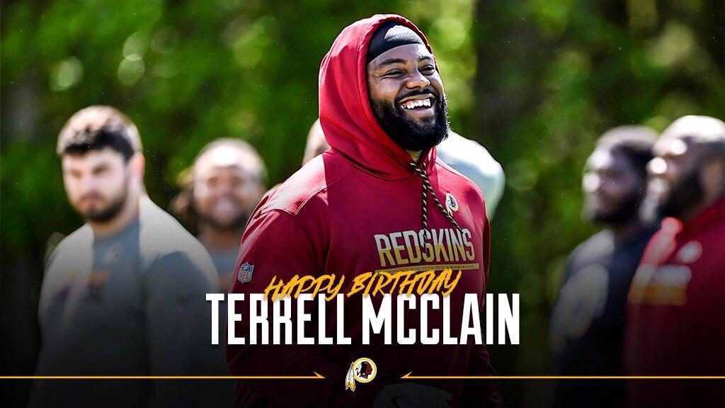 RT to wish #Redskins DL @McclainTerrell a happy birthday! #HTTR
