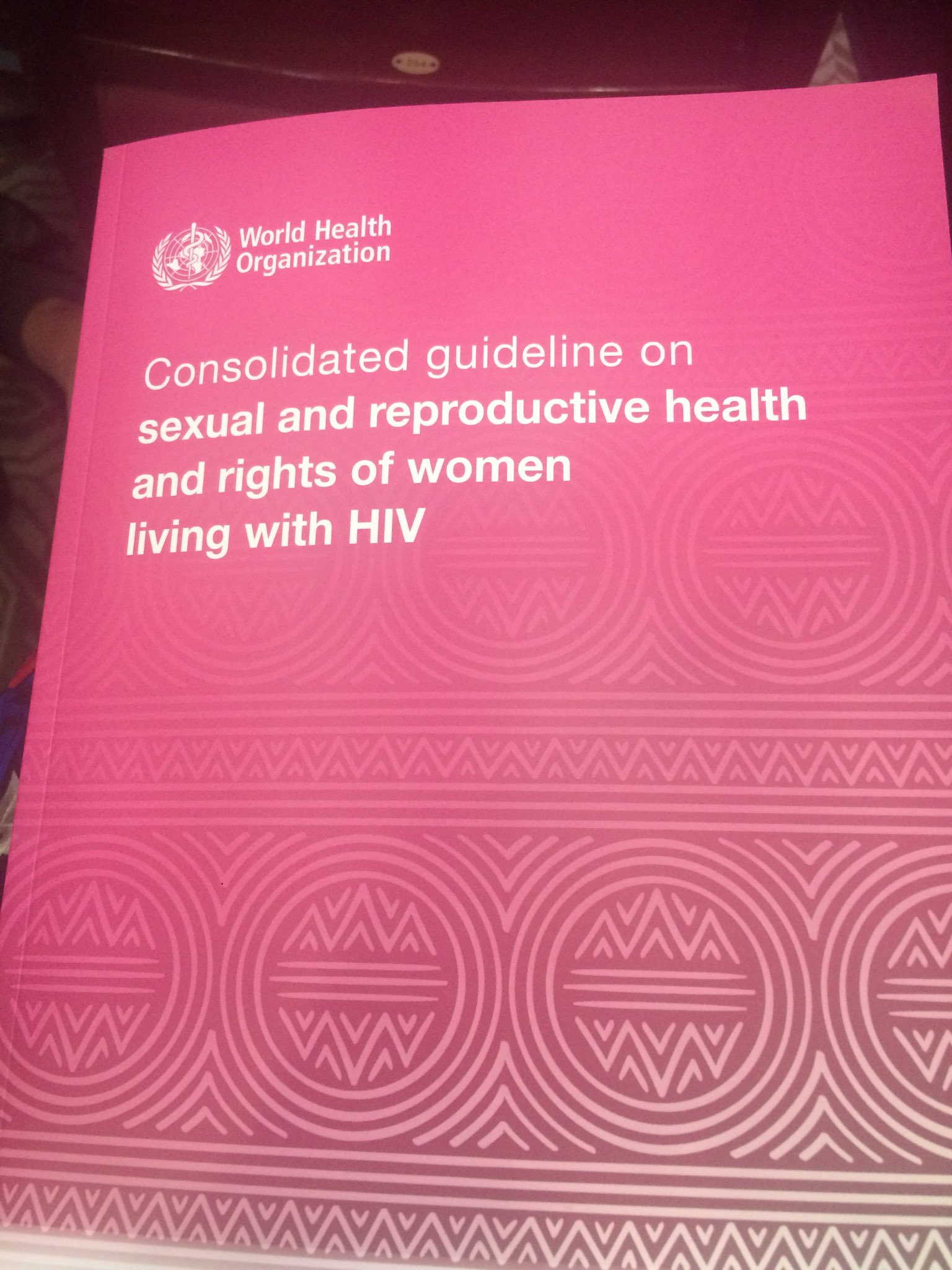 We're excited to be at the launch of the @WHO guidelines on the sexual & reproductive health & rights of women living with HIV #womenHIVSRHR https://t.co/ejvTmE5lOK