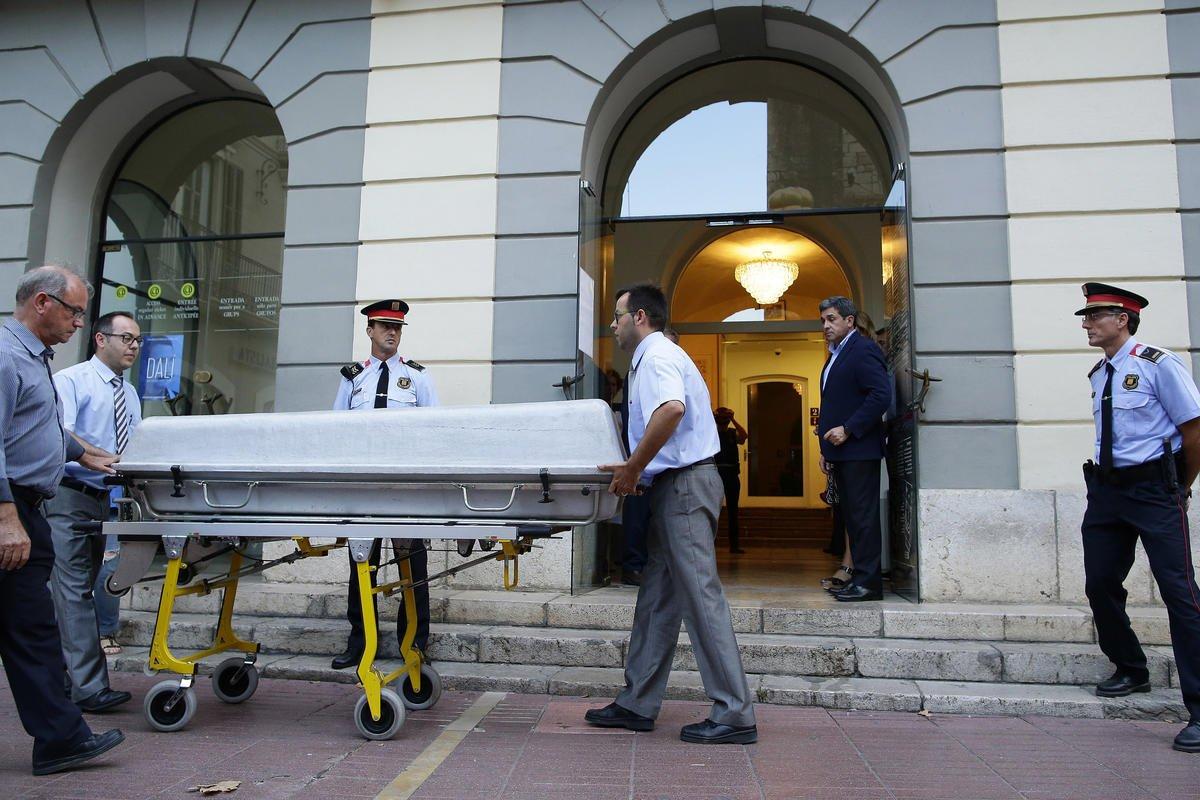 In surrealist twist, Dali exhumed in paternity lawsuit